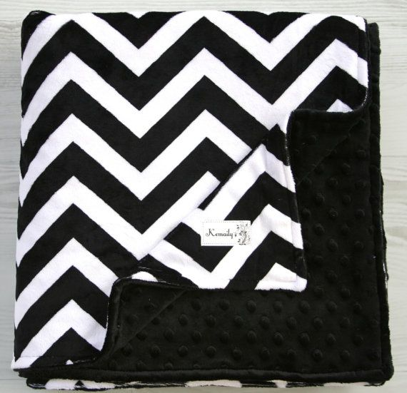 Hey, I found this really awesome Etsy listing at https://www.etsy.com/listing/172782217/black-chevron-double-minky-blanket-from