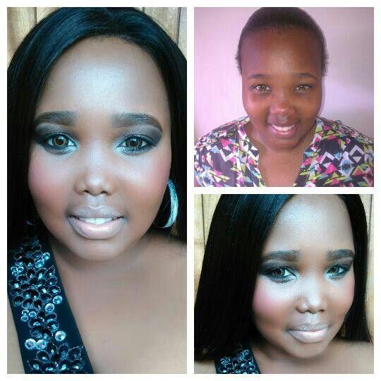Chuma's matric dance! #MakeupByClarity info@claritybeauty.co.za +27 72 767 5266