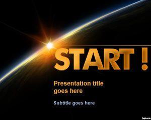 Start PowerPoint Template with Dark Horizon #PowerPoint #templates
