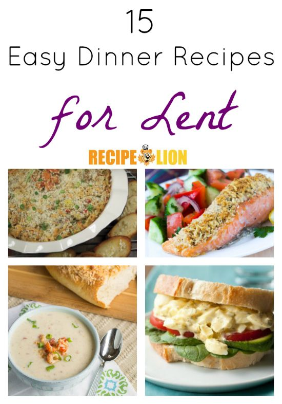 15 easy dinner recipes for lent meatless meals on for Easy fish recipes for dinner