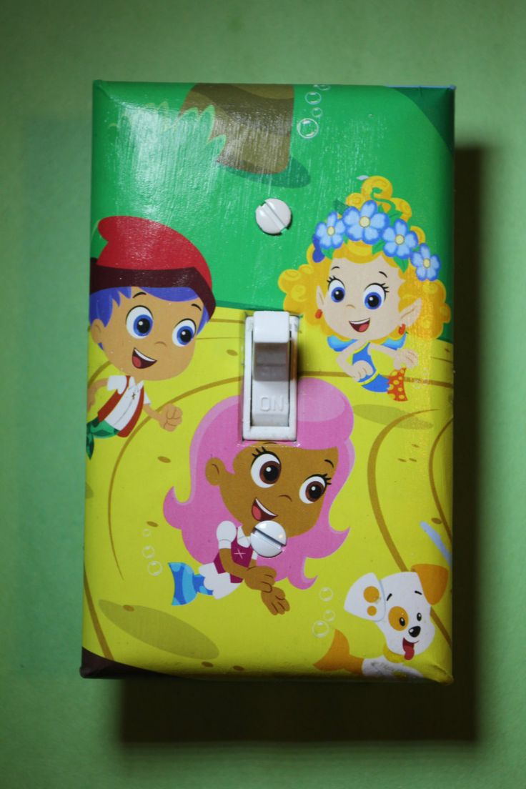 bubble guppies gil molly u0026 bubble puppy light switch plate cover girls boys kids child room