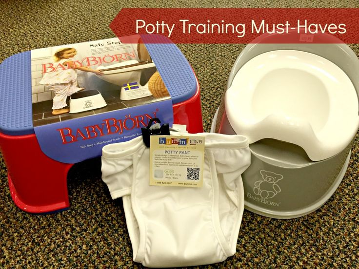 We shared our top 3 must-haves for potty training success!