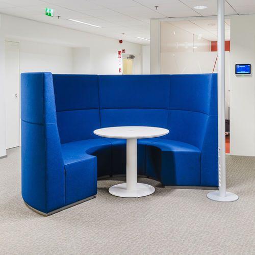 Sofá redondo / moderno / de tela / para edificio público POINT CUP into