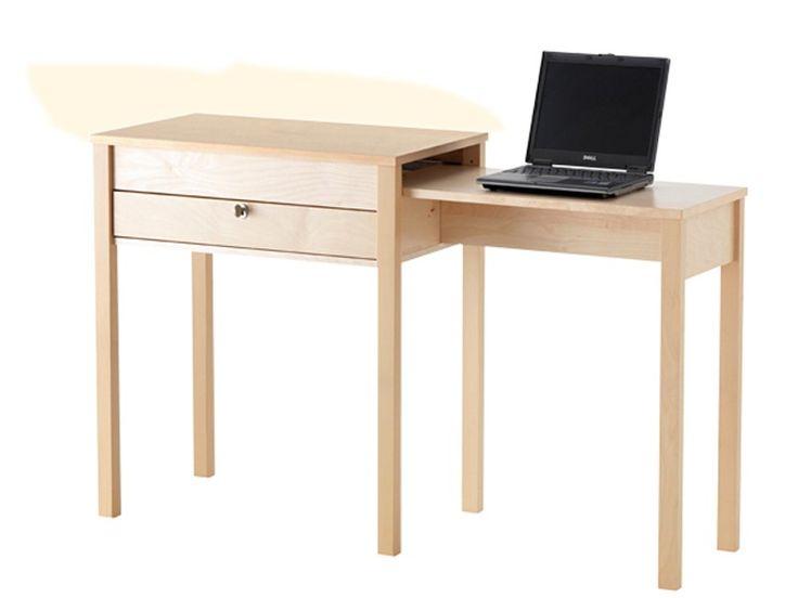 """Ein Schreibplatz, der sich seitlich ausziehen lässt, eignet sich besonders für schmale Räume.  (Schreibtisch """"Gustav"""", ca. 129 Euro, Ikea)"""