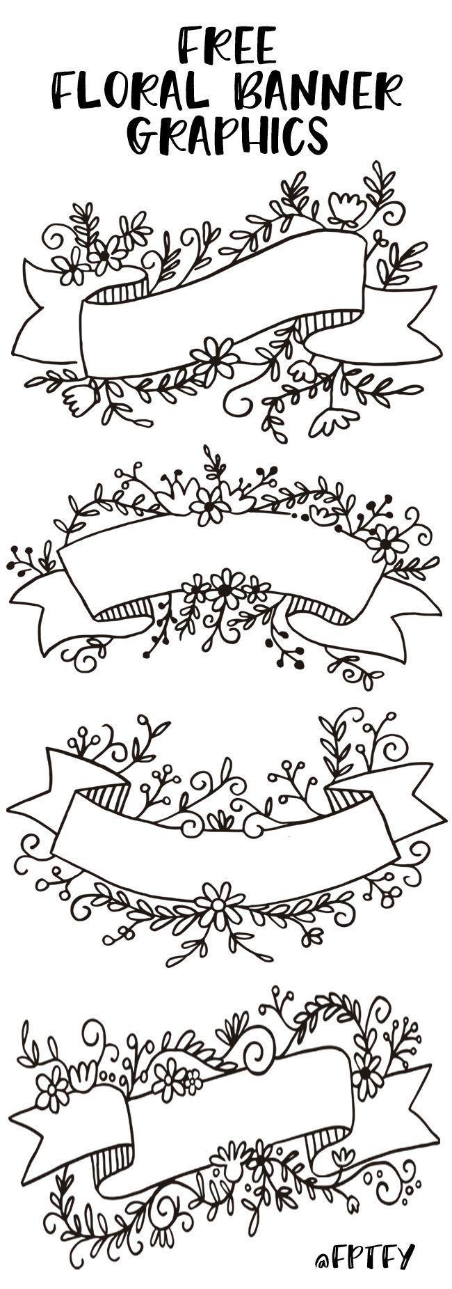 Free Floral Banner Graphics- Set of 4-CU ok – #4CU…