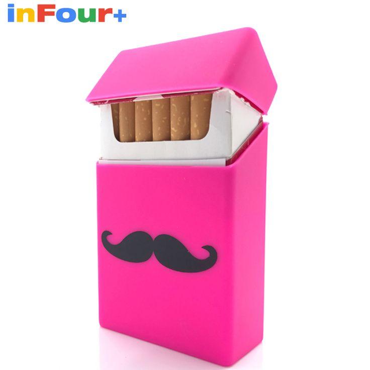 Moustache Silicone Cigarette Case Silicone Box Lady 20 Women Cigaret Box Cigarette Box Case Pitillera De Silicona Cigarete #Affiliate