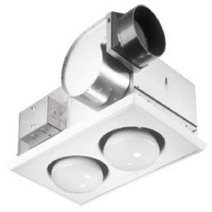Bathroom Heater/Fan Combination Unit   This 70 CFM/2 Bulb Heater/