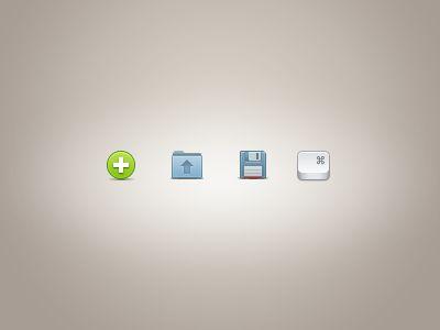 Dribbble - Toolbar icons sample by DÓRI