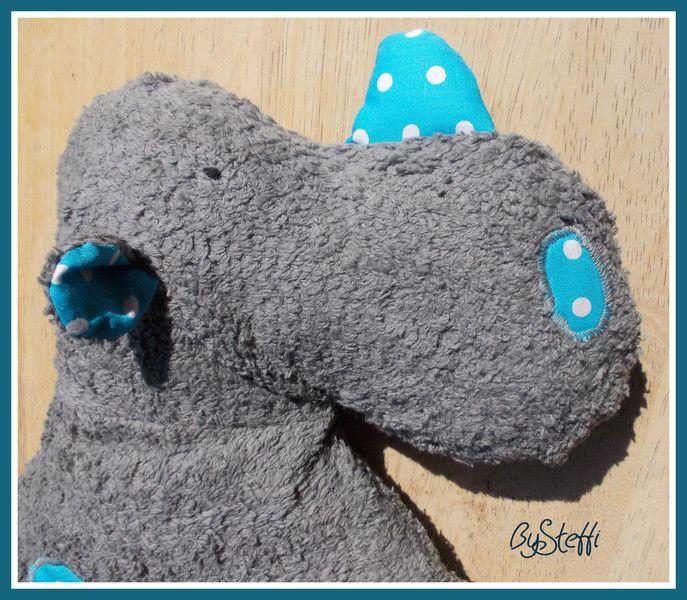 Kuscheltiere -  Bio Kuscheltier Nashorn *Kalle* - Teddyplüsch - ein Designerstück von bysteffi bei DaWanda