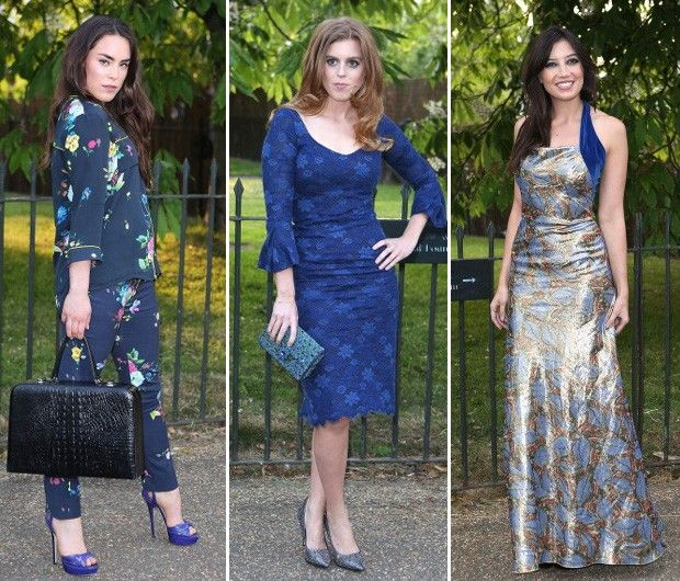 Summer Party of Serpentine Gallerie: Tallulah Harlech , a princesa Beatrice e Daisy Lowe (Foto: Getty Images)