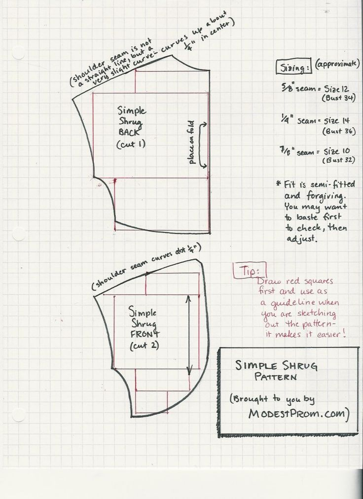 Simple bolero pattern and instructions