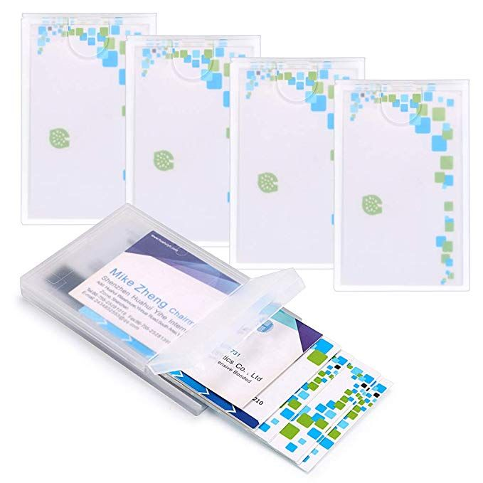 Hipiwe 5 Packs Plastic Business Card Holder Clear Credit Card Case For Man Women Protable Bus Plastic Business Cards Clear Business Cards Business Card Holders