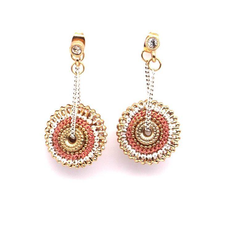 Fashion Bohemian Round Circle Long Earrings For Women Bijoux personality Ethnic Style