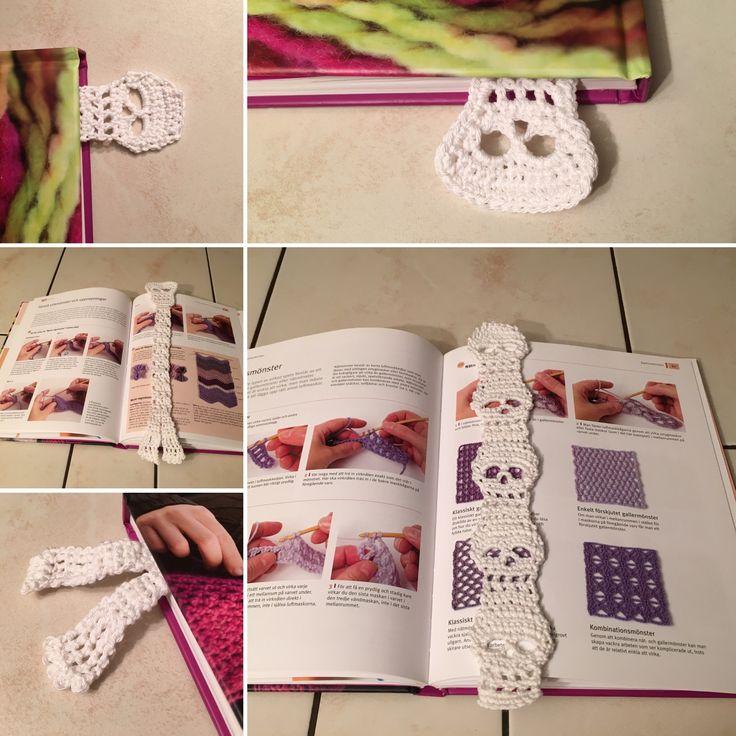 Crochet bookmark, virkade bokmärke
