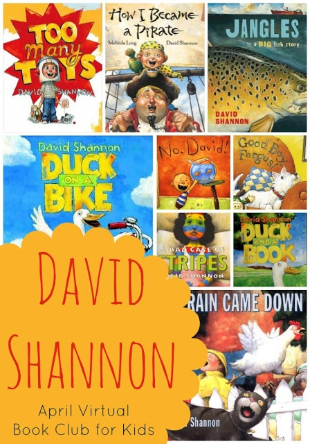 David Shannon Virtual Book Club. Lots of activity ideas for all his picture books.