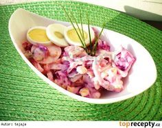 Salát z červené řepy s vajíčkem