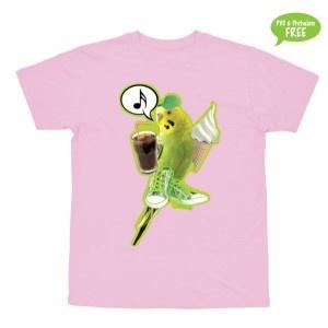 Jeg er en lille Undulat...  T-shirt i str. 2-6 år