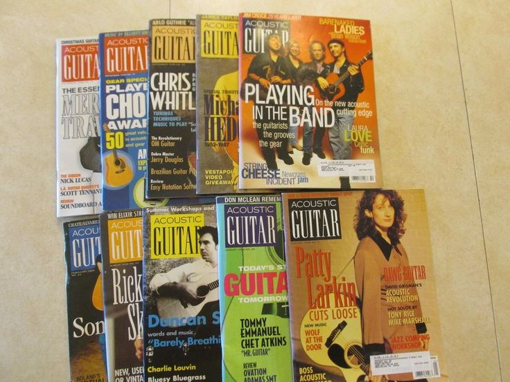1998 Acoustic Guitar Magazine 10 Issue lot Bob Dylan and Paul Simon