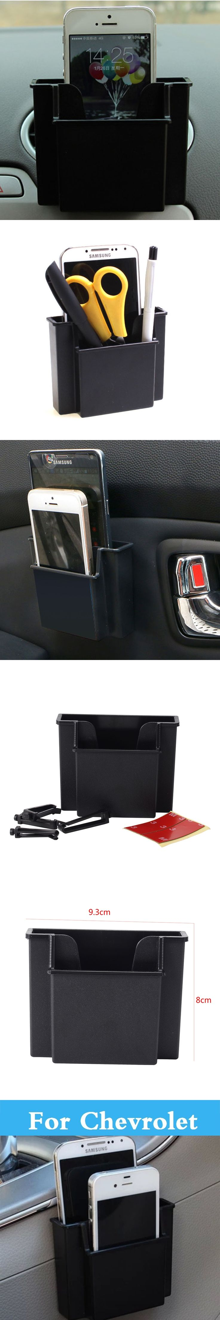 Car Phone Holder Storage Box Holder Orangizer For Chevrolet Aveo Blazer Camaro Cavalier Celta Classic Cobalt Caprice Captiva