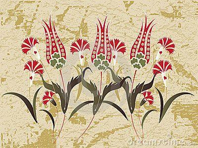 Antique ottoman grungy wallpaper rater design