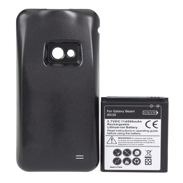 4500mAh Extended Battey With Back Cover For Samsung Galaxy Beam i8530