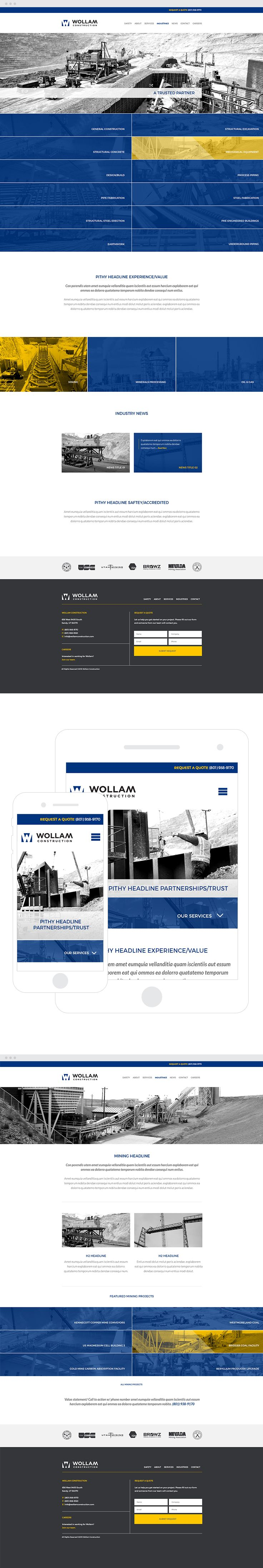 Wollam Construction Web Design & Development