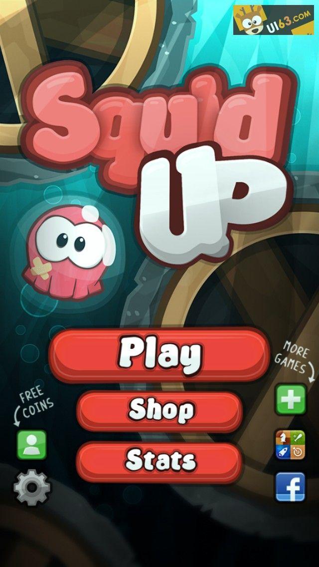 手机游戏ui《squidup》界面设计-...