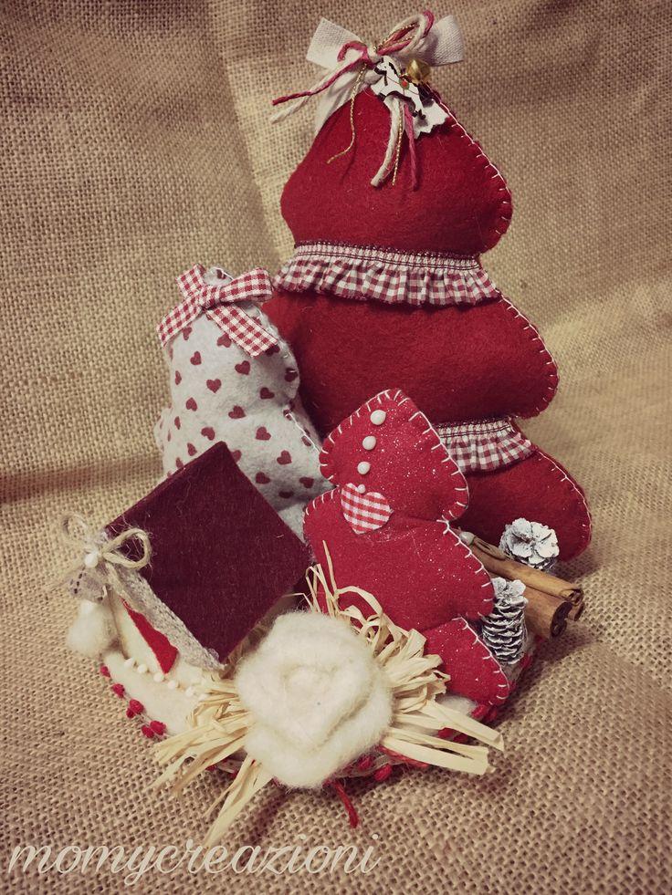 centrotavola rosso  paesaggio invernale