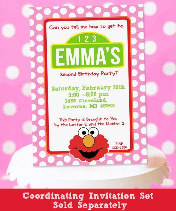 107 best Isabelles 2nd Birthday images – Printable Elmo Birthday Invitations