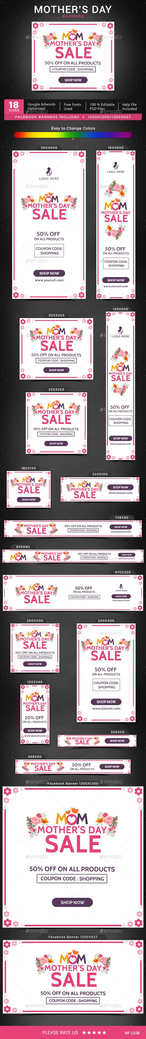 Mothers Day Banners Template PSD. Download here: http://graphicriver.net/item/mothers-day-banners/15713127?ref=ksioks