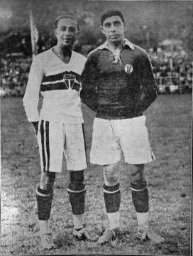 São-paulino Friedenreich e palestrino Heitor foram companheiros na Seleção Brasileira (Foto: Acervo/Gazeta Press)