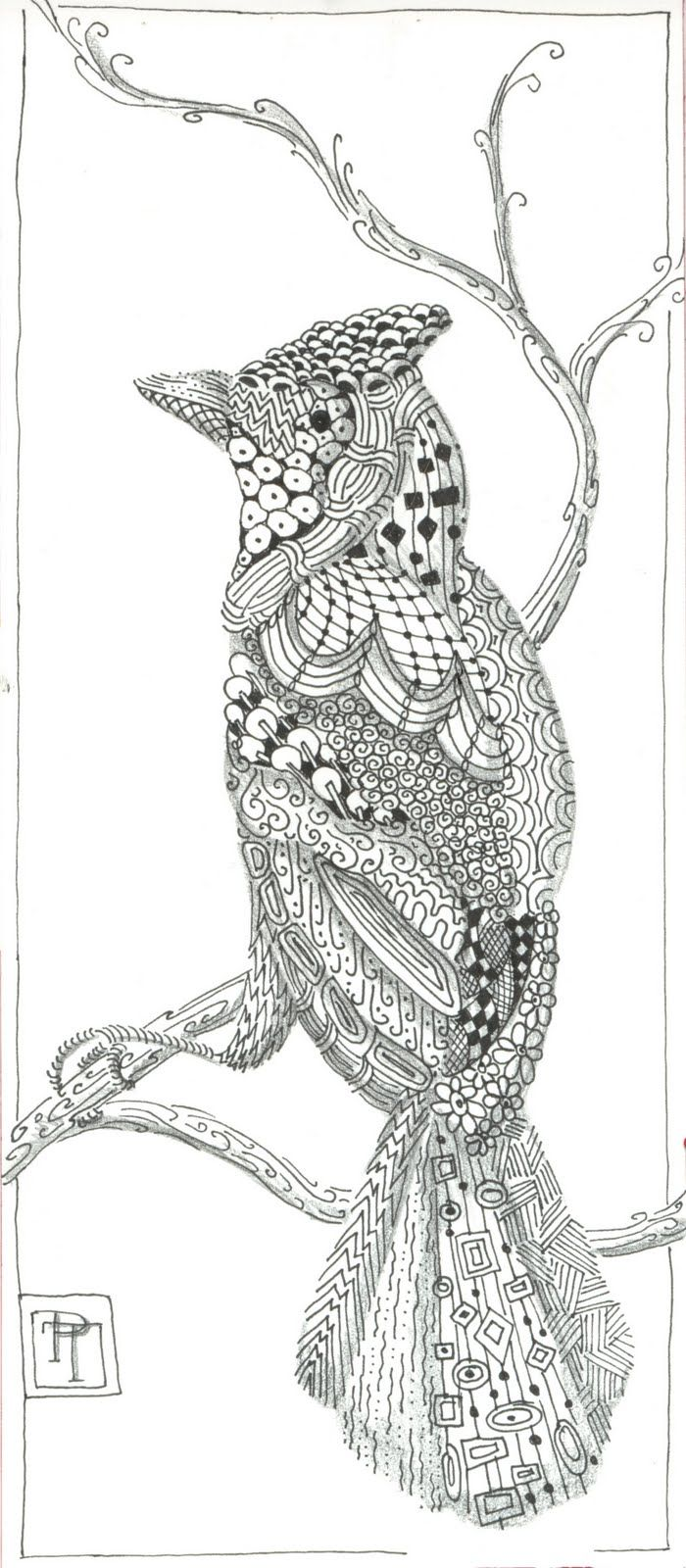 Zen doodle colour - Zentangle Animal
