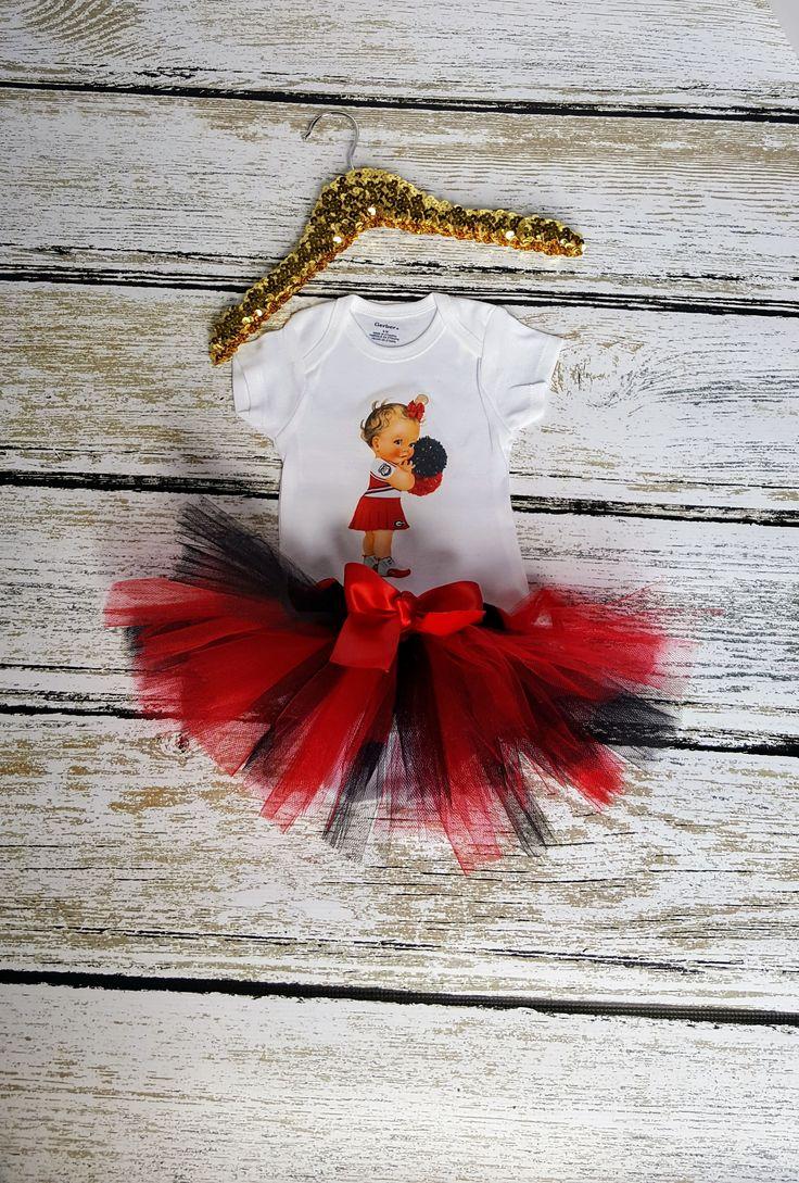 Such a Cute Georgia Bulldog Tutu. Celebrate your game day with this custom tutu for your princess