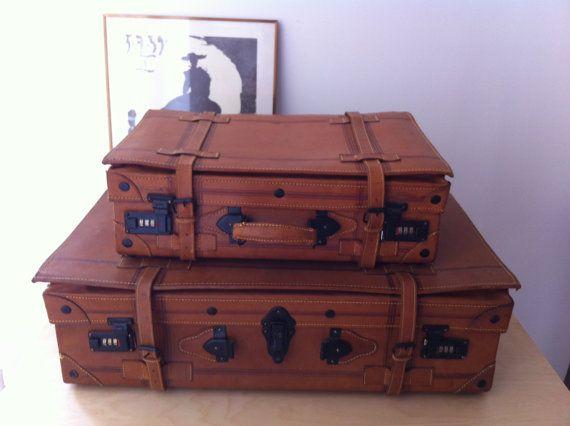 Vintage Style Cardboard Suitcases / Set Of 2