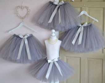 Girls tutu Flower Girl knee length Ivory by FlowersAndConfetti
