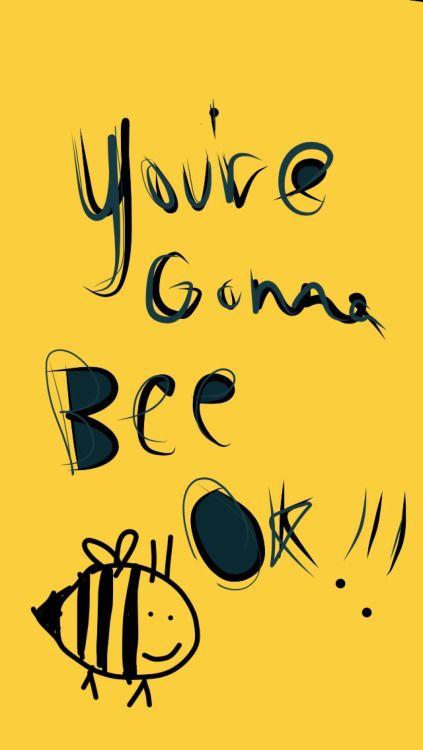 "lukehateblog: "" I made more bee pun lockscreens """