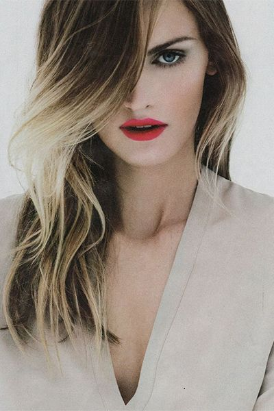 Lipstick red blondes with