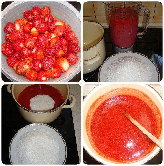 jahodová marmeláda fotopostup