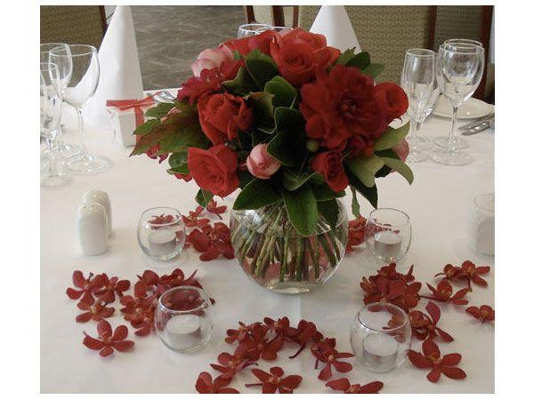 Arreglos de flores para bodas de d a rojos eventos - Arreglos de flores para bodas ...