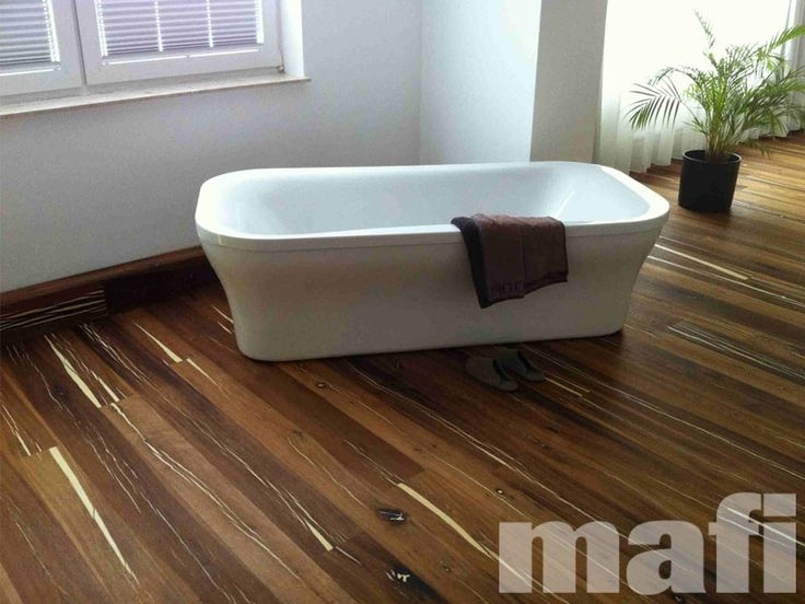 Timber Floors in bathrooms | Tiger Oak White Brushed Natural Oil | Mafi Timber