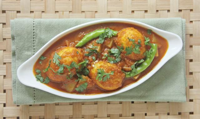 Want a non-vegetarian meal but don't have any meat in your fridge? Egg Curry is a terrific and very tasty alternative. You can make it many different ways. This recipe is from North Indian and is really easy to put together.