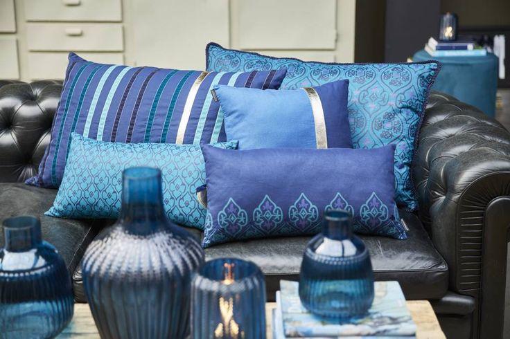 Riverdale Kussen Stripes Donkerblauw - 70xH50 cm - Sweet Living Shop