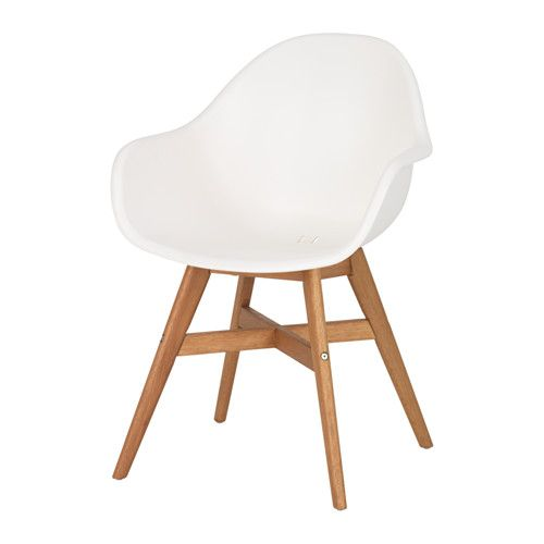 IKEA - FANBYN, Armlehnstuhl, Besonders bequem durch körpergerecht geformte Rückenlehne und Armlehnen.Für drinnen und draußen geeignet.