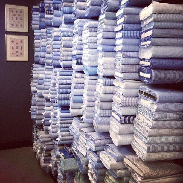 Bespoke Charvet shirts!   Place Vendome - Paris.