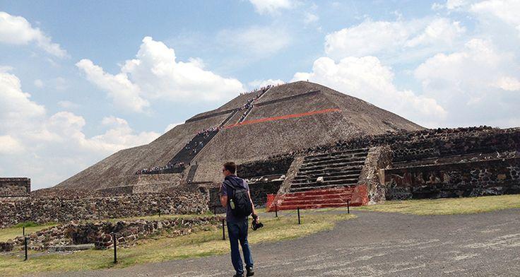 Pyramiden in Teotihuacán bei Mexiko Stadt