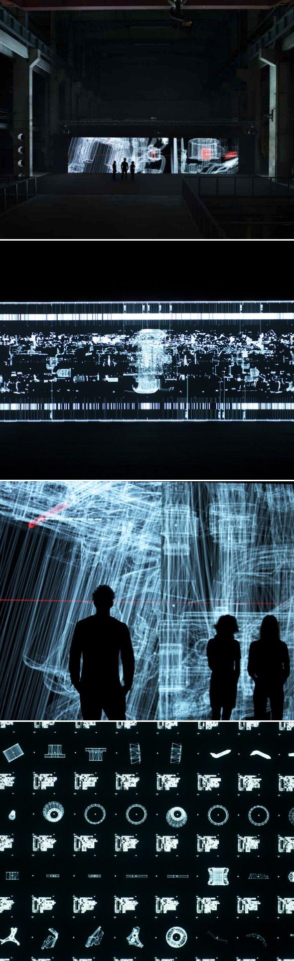 Installation Data.anatomy.civic par Ryoji Ikeda