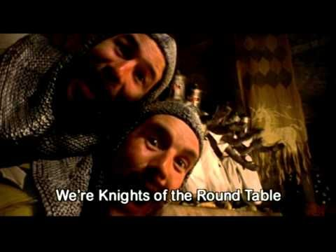 """VIDEO: Monty Python and the Holy Grail: """"Knights of the Round Table (Camelot Song)"""" with lyrics. [1:37]"""