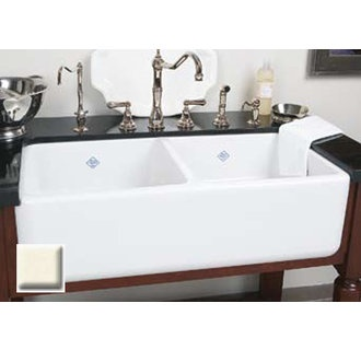 Lovely Rohl, Double Bowl Sinks, Rohl 37 Handcrafted 50 50 Double Basin Fireclay  Apron Front Farmhouse Kitchen Sink From The Shaws Original Se