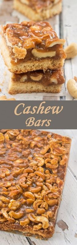 Caramel Cashew Bars. The perfect treat for any occasion. (English ...