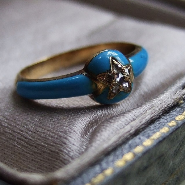 French Victorian Enamel RingFrench Victorian, Victorian Enamels, Enamels Rings So, Victorian Rings